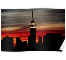 Empire State At Dusk Poster