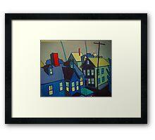 Blue Gloucester Framed Print