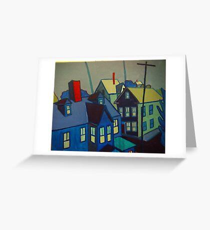 Blue Gloucester Greeting Card