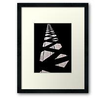 Inside the covered bridge Framed Print