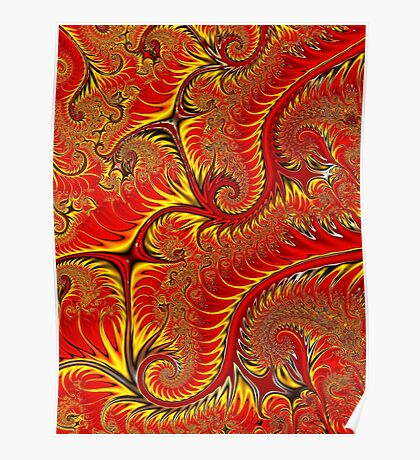 PONG 4-tweak2-Firey Leaves + Parameters Poster