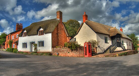 Thatched cottages of Halse by Rob Hawkins
