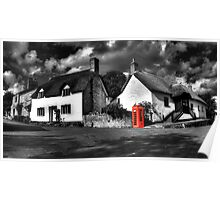 Thatched cottages of Halse (Mono) Poster