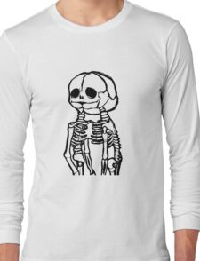 Conjoined Skeletons Long Sleeve T-Shirt
