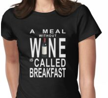 Wine for Breakfast Womens Fitted T-Shirt