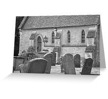 Headstones. Greeting Card