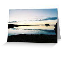 High exposure Sunset in Wisconsin Dells Greeting Card