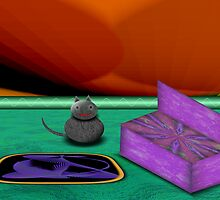Dopey Cat in a Psychedelic Room by lacitrouille