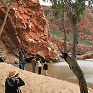 Photographer at Ormiston Gorge by Cheryl Parkes