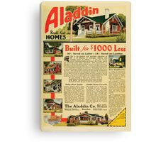 Advertisements Photoplay Magazine February through June 1921 0207 Aladdin Ready Cut Homes Canvas Print