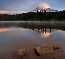 Majestic  Rainier Dawn by DawsonImages