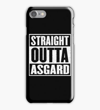 Straight Outta Asgard - Avenging the Hood - Movie Mashup - Geek Humor & Comics iPhone Case/Skin