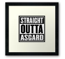Straight Outta Asgard - Avenging the Hood - Movie Mashup - Geek Humor & Comics Framed Print