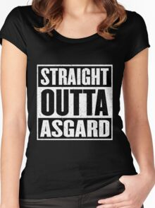 Straight Outta Asgard - Avenging the Hood - Movie Mashup - Geek Humor & Comics Women's Fitted Scoop T-Shirt