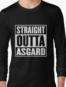 Straight Outta Asgard - Avenging the Hood - Movie Mashup - Geek Humor & Comics Long Sleeve T-Shirt