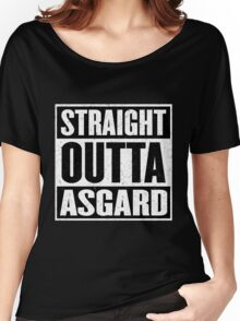 Straight Outta Asgard - Avenging the Hood - Movie Mashup - Geek Humor & Comics Women's Relaxed Fit T-Shirt