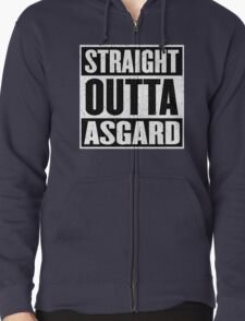 Straight Outta Asgard - Avenging the Hood - Movie Mashup - Geek Humor & Comics Zipped Hoodie