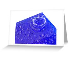 Splish Splash Water Drops Greeting Card