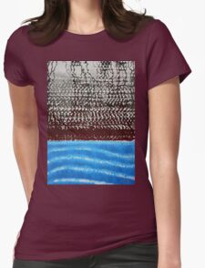Summer Squall original painting Womens Fitted T-Shirt