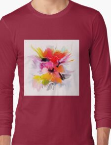 Bunch of flowers. Watercolor  Long Sleeve T-Shirt