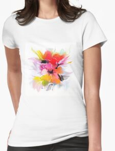 Bunch of flowers. Watercolor  Womens Fitted T-Shirt