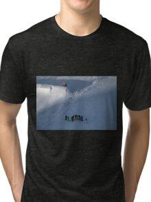 Winter on Kitzsteinhorn 39 Tri-blend T-Shirt