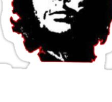 Che White on Black Sticker