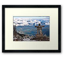 Whistler Inukshuk Framed Print