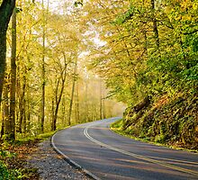 East Tennessee Backroad in Fall by Jimmy Phillips