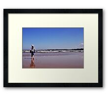 Down by the Sea, Anglesea, Great Ocean Road Framed Print