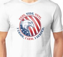 American Bald Eagle VVV Flag Shield Unisex T-Shirt