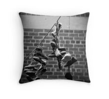 Freeing the Footwear Throw Pillow