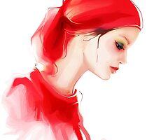 Fashion woman profile portrait  by Teni