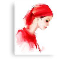 Fashion woman profile portrait  Canvas Print