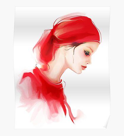 Fashion woman profile portrait  Poster