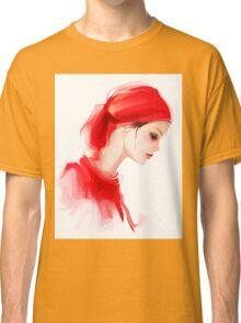 Fashion woman profile portrait  Classic T-Shirt