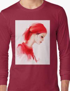 Fashion woman profile portrait  Long Sleeve T-Shirt
