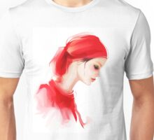 Fashion woman profile portrait  Unisex T-Shirt