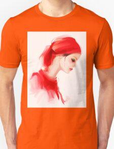 Fashion woman profile portrait  T-Shirt