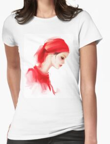 Fashion woman profile portrait  Womens Fitted T-Shirt