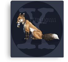 X-files, Fox Mulder, FOX  Canvas Print
