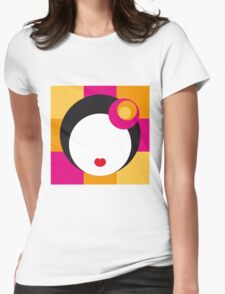 Geisha Girl in Squares Womens Fitted T-Shirt