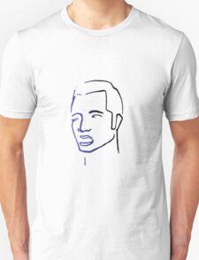 Pop Art Portrait--Purple Unisex T-Shirt