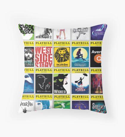 Broadway Greats Throw Pillow