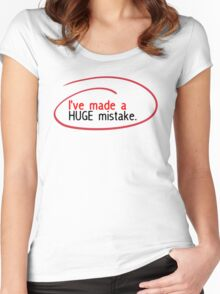 Huge Mistake Women's Fitted Scoop T-Shirt