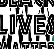 Black Lives Matter Tiger Print Sticker