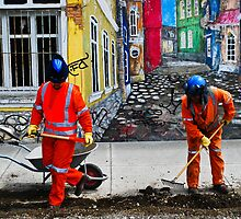 Workers in Ushuaia by aitor314
