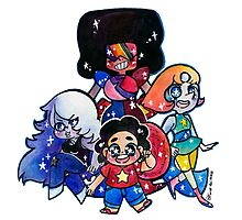 We....are the crystal gems! Photographic Print