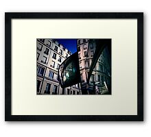 Bus mirror Framed Print