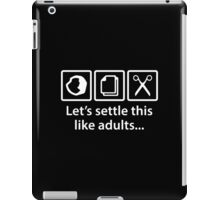 Let's Settle This Like Adults... iPad Case/Skin